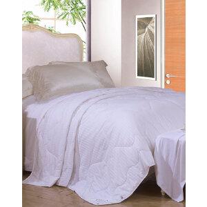 [当当自营]富安娜纯棉夏被空调被1.5米1.8米床 佳梦七孔夏薄被 白色 1.8米