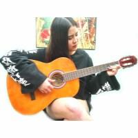 Rockman 38寸标准 古典吉他 木吉他 尼龙弦 六弦琴吉他 38寸吉他 木吉他 送:吉他拨片  吉他调节扳手一个  《即兴之路》初学中级教程 一本+CD
