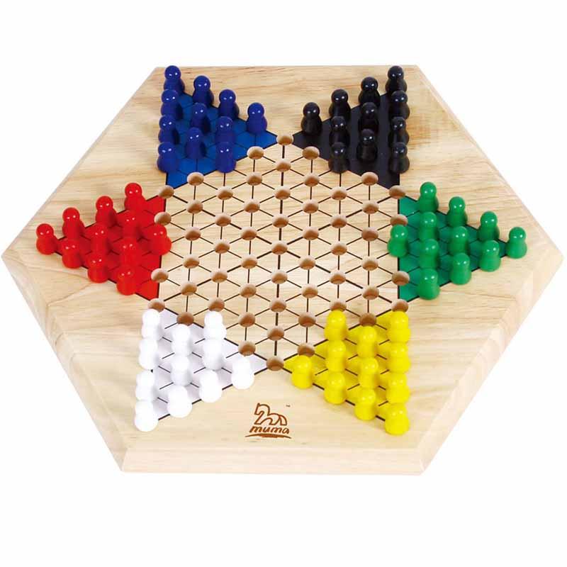 大号跳棋 儿童益智玩具 29110 【当当自营】3岁以上儿童六角跳棋套装图片