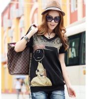 2017夏装新款大码女装韩版短袖T恤女胖mm宽松T恤上衣qc7119173641208812076