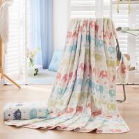 纯棉全棉五层纱布新生婴儿浴巾毛巾被儿童成人单双人春夏空调毯 盖毯空调被夏凉被