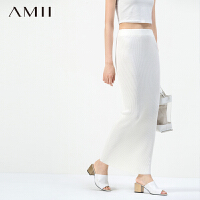 【AMII超级大牌日】[极简主义]2016秋季新品女修身大码H型包臀针织毛线半身裙11570883