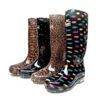 女式雨靴高筒雨靴防水雨鞋中跟厨房胶鞋农用劳保水靴
