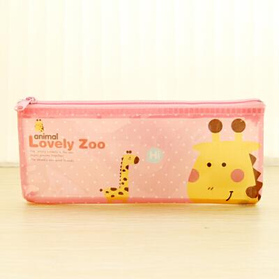 umi 韩国文具 可爱萌动物网格袋文件袋 大容量铅笔袋文件袋笔袋