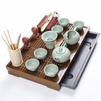 尚帝 咖色小兰香茶盘-汝窑茶具套装SD150626A