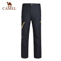 camel骆驼户外冲锋裤  男女士情侣款徒步登山长裤