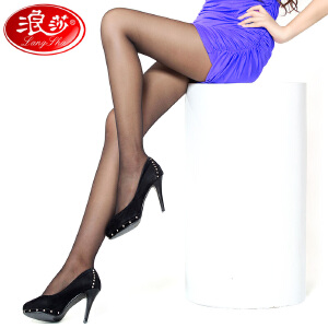 浪莎超薄丝袜子 女士美腿包芯丝绢感觉薄款连裤袜 时尚美腿 5条