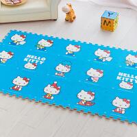 明德天蓝hellokitty卡通儿童 爬行垫 凯蒂猫泡沫拼图地垫30*30*1�M 9片装拼图地垫