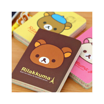 【日韩国本册/便签】韩国文具 可爱轻松熊笔记本 卡通