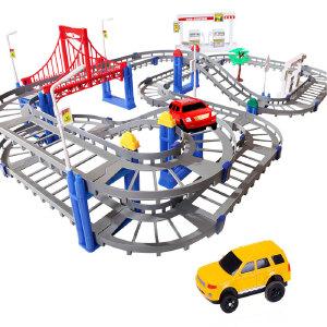 橙爱立昕 超大型托马斯轨道火车梦幻轨道汽车电动车 双轨道车 儿童玩具火车玩具托马斯小火车套装电动玩具益智玩具