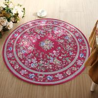享家欧式多尼尔雕花圆形地毯90*90�M卧室客厅地垫电脑椅垫地垫圆型015