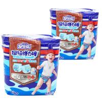 安儿乐拉拉裤XL码学步裤 男宝宝成长裤 婴儿扭扭弹力裤加大号2包装