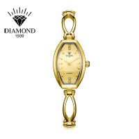 上海钻石牌手表女士潮流时尚学生防水石英表钢带时装手链表女