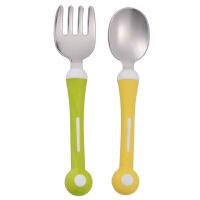 【当当自营】Pigeon贝亲 亲子不锈钢叉勺组 DA59 贝亲洗护喂养用品 宝宝餐具/婴儿餐具/儿童餐具