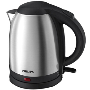 Philips/飞利浦 HD9306电热水壶1.5L食品级304不锈钢电水壶不锈钢