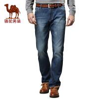 CAMEL 骆驼男装 新款牛仔裤 男 韩版 潮流直筒修身长裤子