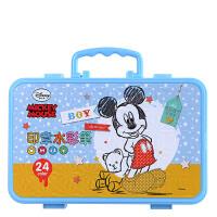 【当当自营】迪士尼(Disney)D01214米奇印章水彩笔/可水洗小学生绘画笔/儿童涂鸦笔24色/粉色