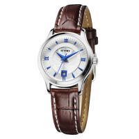 艾奇(EYKI) 石英情侣手表 时尚简约罗马刻度日历显示 潮流真皮手表女士手表 8705