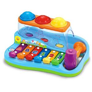 汇乐 智慧木琴 婴儿敲打琴 音乐手敲琴 打击乐器 宝宝益智玩具