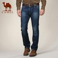 CAMEL 新品 骆驼男装 休闲牛仔裤 男士时尚修身牛仔长裤