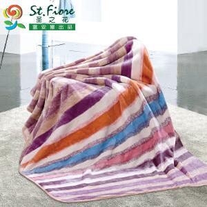 [当当自营]富安娜拉舍尔保暖多功能毯子 青春时光 紫色 180*220/2600g