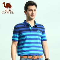 camel 骆驼男装 夏装新款男士短袖T恤 时尚潮流棉t恤衫