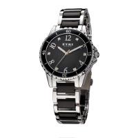 2017新款 EYKI/艾奇女表 轻盈表带 高贵圆面 女士手表 8488 黑色