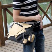 男包韩版单肩包斜挎包帆布包学生包斜挎书包旅行包