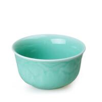 陶瓷故事 陶瓷餐具青瓷 牡丹碗1个 宋代名窑龙泉窑餐具粉青