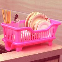 厨房置物架 塑料加厚滴水碗碟收纳架 滤水沥水碗碟架 滴水碗架(侧面漏水)
