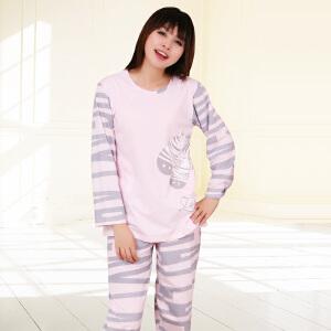 金丰田春秋女士可爱卡通图案长袖睡衣家居服套装1515