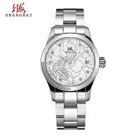 上海牌手表防水 女式全自动机械表 时尚潮流陶瓷镶钻女表SH-596-5