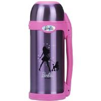 芭比保温杯 芭比公主大容量800ML防漏运动旅行壶 背带 抽真空保温壶 保温3306目前只有粉紫色