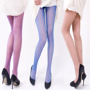 浪莎丝袜子 女士超薄糖果色炫彩银丝加裆连裤袜 长筒袜子 彩色丝袜