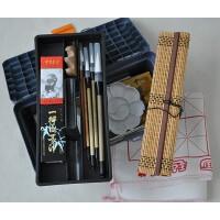 18色国画颜料套装工具17件套装 画笔笔墨纸砚俱全 书法毛笔练习必备