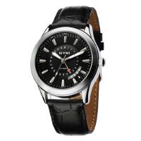 2017新款艾奇 EYKI 时尚创意日历手表 皮带表 自动机械表 男表 黑色 8532