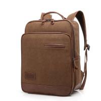 【支持礼品卡支付】双肩包防水帆布包韩版大中学生书包休闲包电脑包旅行包