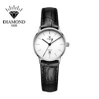上海钻石牌手表女皮带石英表超薄休闲小表盘防水简约时尚女士手表