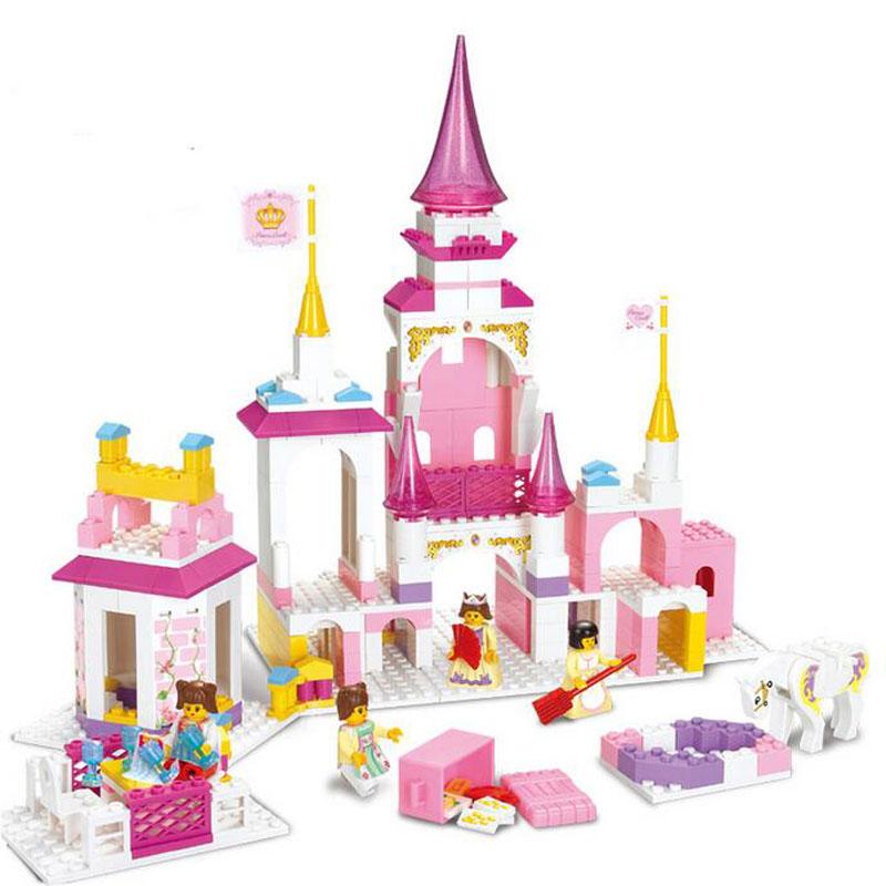 益智积木拼插玩具 拼装玩具 拼插模型 魔幻城堡 梦想城堡 385块积木b