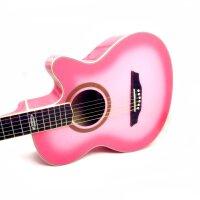 支持货到付款 Strinberg  入门初学吉他  性价比 木吉他 民谣吉他 缺角吉他(  粉色 ) SC-20C(送防雨背包 一弦 拨片 扳手 《即兴之路》+CD 背带)