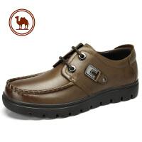 骆驼牌男鞋 新款 头层皮日常休闲皮鞋休闲鞋牛皮鞋