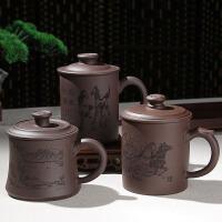 尚帝宜兴紫砂杯 带盖茶杯 紫泥20160301-DYPG209
