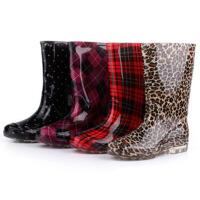女士雨靴可脱卸加绒保暖时尚雨鞋水靴高筒保暖防滑套鞋