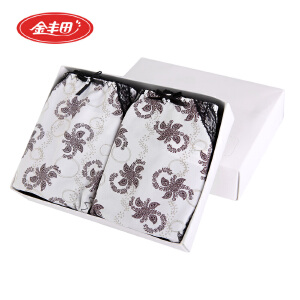 2条装金丰田女士性感时尚印花小平角内裤6306