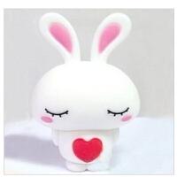 低价包邮 日照鑫 爱心兔子U盘16G 新款卡通U盘 可爱创意礼品U盘 (一个装)